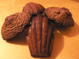 madeleines orange-chocolat