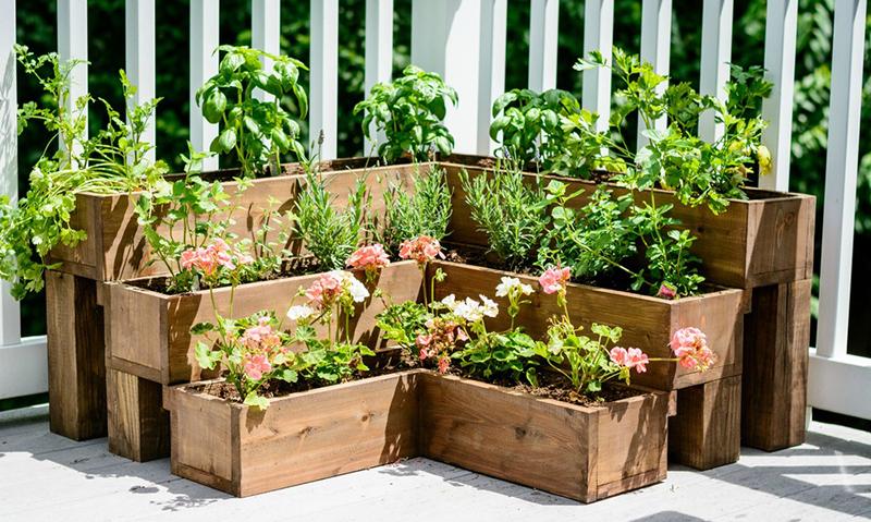 DIY-Tiered-Herb-Garden.-Great-raised-herb-garden-for-decks