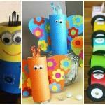10 idées pour recycler les rouleaux de papier toilette. Les enfants vont adorer!