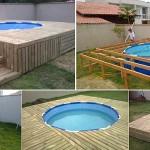 Voici comment il a pu fabriquer cette magnifique piscine hors-sol