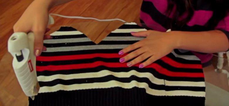 gluingoldsweater