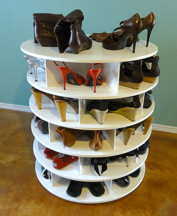 shoe-storage-idea-lazy-susan