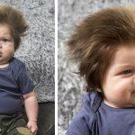 Ce bébé n'a que 9 semaines, mais a une tête pleine de cheveux