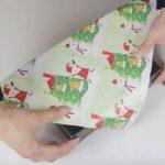 Voici une excellente astuce pour emballer un cadeau sans ruban