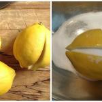 Coupez 1 citron en 4 parties, mettez un peu de sel dessus et mettez-le au milieu de la cuisine! Les effets sont incroyables!