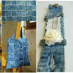 Voici comment transformer vos vieux jeans en de beaux accessoires pour la maison
