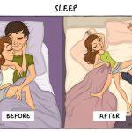 La vie avant et après le mariage en images