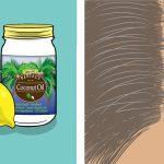 Mélangez le citron et l'huile de noix de coco. Un excellent remède contre les cheveux gris