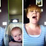 Cette femme enregistre une version géniale de Hallelujah avec son bébé