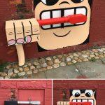 Cet artiste de rue crée des œuvres géniales dans cette ville, et espérons que personne ne l'attrape