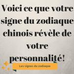 Voici ce que votre signe du zodiaque chinois révèle de votre personnalité!