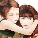 Une sœur est plus qu'une ami, elle est la moitié de notre cœur