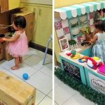 Cette maman a construit une cuisine en carton pour sa fille