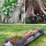 Des idées pour décorer votre jardin avec des troncs d'arbres