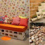 10 idées et astuces à faire avec les blocs de béton