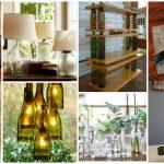 10 façons ingénieuses d'utiliser les bouteilles en verre dans votre maison