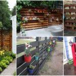 Comment faire une clôture de jardin avec des palettes