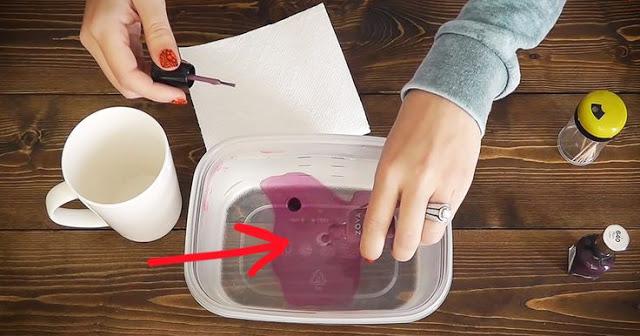 DIY Watercolor Coffee Mugs Using Nail Polish