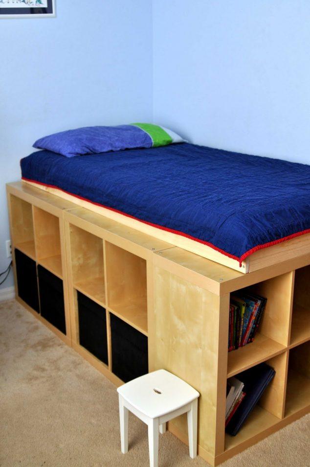 twin-beds-with-storage-ikea-slate-decor-floor-lamps-634x954