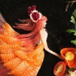 Cet artiste conçoit une nourriture incroyable à partir de poisson cru et d'autres ingrédients comestibles