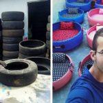 Un artiste brésilien utilise les pneus usés que les gens jettent dans les rues pour créer des lits pour les animaux