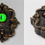 Vous pouvez obtenir une sonnette avec un globe oculaire animé qui vous regarde