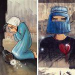29 œuvres déchirantes de la première artiste de rue afghane
