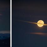 Un photographe capture une image unique de la Lune déguisée en Saturne